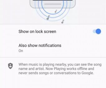 Google Pixel 2:  Now Playing  Feature Uses AmbientSense to Minimize Battery Drain