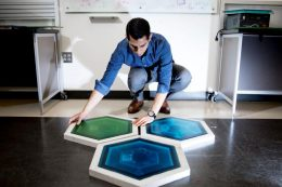 Piezoelectric Tiles Light the Way for Kennedy Space Center Visitors