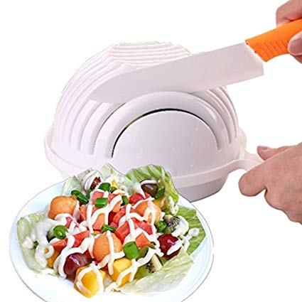 Salad Chopper Bowl with a Strainer New Kitchen Gadgets 2020