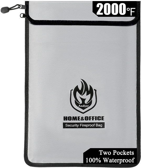 Andyer Fireproof Document Bag