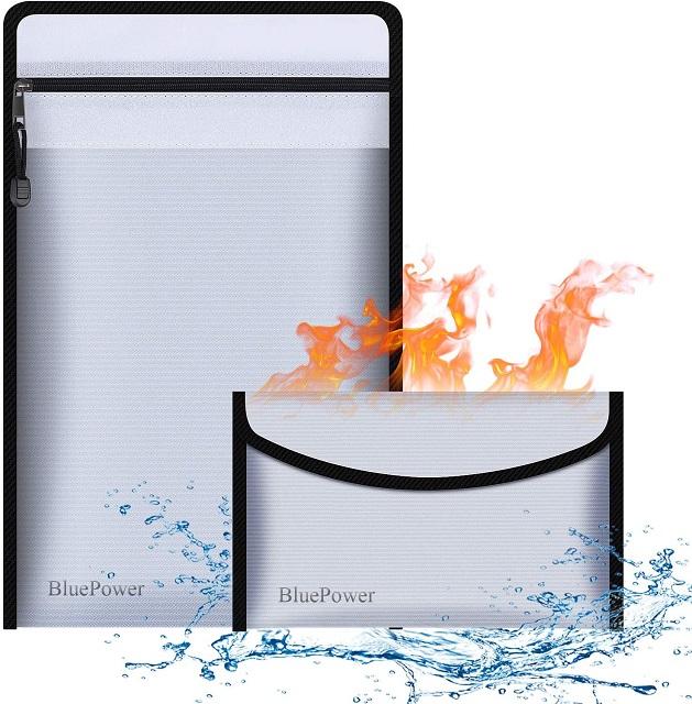 BluePower Fireproof File Organizer